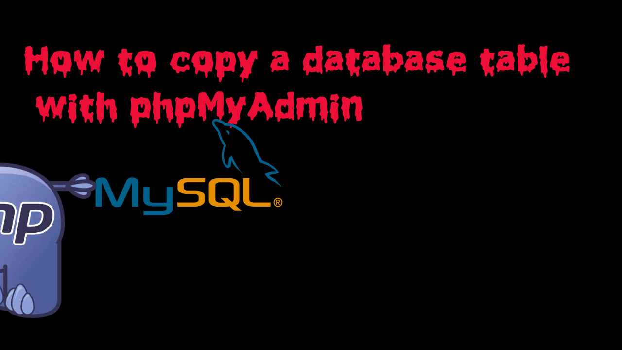 How to copy a database table with phpMyAdmin